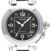 Free Shipping Pre-owned Pasha C W31043m7 Self-winding Black Dial