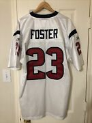 Arian Foster Autographed/signed Jersey Houston Texans Home Reebok Nfl Equipment