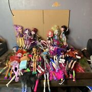 Huge Monster High Lot Of 50 Dolls Massive Accessory Lotand039s First Wave Rare