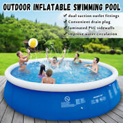 Inflatable Swimming Paddling Pool Large Outdoor Garden Family Pools Fun Play New