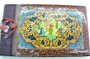 Vintage Photo Album Hand Painted Leather Covers Middle East Middle East 1940's