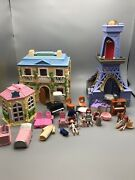 Madeleine And Barbara Bemelmans Doll House Big Lot Eiffel Tower And Extras Rare