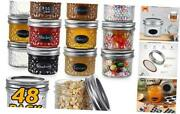 48 Pack Small Mason Jars 4 Oz Glass Canning Jars With Regular Lids And Bands