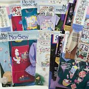 Set Of 12 Vintage Daisy Kingdom No Sew Fabric Appliques Cardigan Cut Outs Nos
