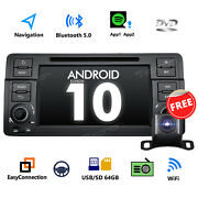 Cam+android 10 7 Lcd Touchscreen Car Stereo Gps Radio Dvd For Bmw E46 1999-2004
