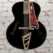 D'angelico B-stock Excel 16 Non-cutaway Hollowbody Style B - Black X1144