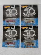 Hot Wheels 50th Anniversary And03955 Chevy Bel Air Gasser And Vw T1 Drag Bus Lot Of 4