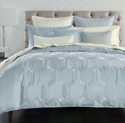 Hotel Collection Marquesa Geo Embroidered King Duvet Cover 500