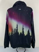 Lrg Lifted Research Group Mens Xxl Hoodie Jacket Trees Forest Dust Night Sky