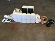 Bose Stacked Cubes W/ Realistic Mini Speakers + Wires And Cords. Bundle.