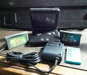 Gameboy Advance Sp Black | Nintendo Gba Sp Ags-001 Oem Charger And New Battery