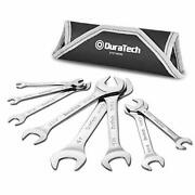 Duratech Super-thin Open End Wrench Set Sae 8-piece 1/4 To 1-1/16