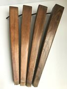Four Vintage Tapered Hard Wood Furniture Legs Square