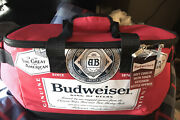 Budweiser Fabric Cooler With Bottle Opener Red Nwt Brand New Never Used Locked