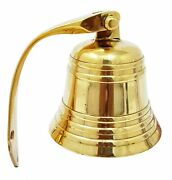 Ship Bell Nautical Wall Mounted Antique Solid Brass Hanging Home Door Bell