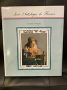 New French Art Stamp Collection 1981-1989 Postal Service Company