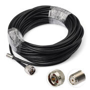 Truck/boats Marine Satellite Radio Antenna Replacement Cable 15m N To Mini-uhf