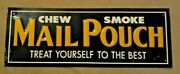 Mail Pouch Chewing Tobacco Cigarette Embossed Metal Advertising Sign