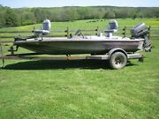 1984 Glasstream 16and039 10 Bass Boat And Trailer With 90 Hp Suzuki Dt90 Outboard
