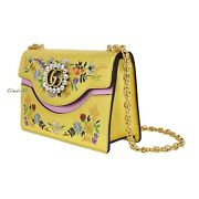 New Authentic Gg Marmont Crystal Embroidered Leather Shoulder Bag