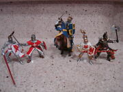 Schleich And03903 World Of Knights Blue/gold Knight/horse 73527 1119 12111126 Mint