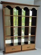 Vintage 18 Andtimes 14 Wooden Knick Knack Display Shelf For Wall Mirrored Display Shelf