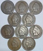10-indian Head Cents-1887-1888-1889-1898- 1899- 1901-1903-1905-1906 And1907 908