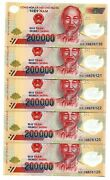 Vietnam Dong Currency 1 Million Dong = 5 X 200000 200000 Dong New Condition