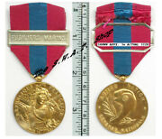French National Defence Medal 3rd Class + Naval Infantry Bar France Marines