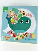 Vilac Whale Balancing Stacking Game Childrens Wooden Kids Toy Whaly Wood 4+