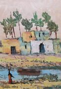 Superior Quality Small Oil Ismail Samy 1935-1990 Egyptian Listed.