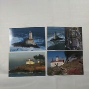 Lot 4 Crescent City California Lighthouse Postcard St. George Reef Battery Point