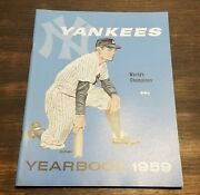 1959 Ny Yankees World Champions Yearbook Mickey Mantle Photos Jay Publishing Nm