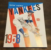 1958 Ny Yankees Yearbook Mickey Mantle World Series Photos Jay Publishing Nm