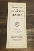 1923 Automobile Club Southern California Los Angeles Beaches Orange Cty Road Map