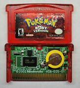 Pokemon Ruby Version Game Boy Advance New Battery Authentic Working
