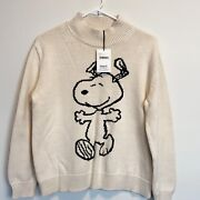 Chinti And Parker Oatmeal And Black Peanuts 100 Cotton Sweater Size Small