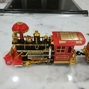 Vintage Battery Operated Train Lights Sound Motion W 3 Cars