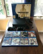 Sony Playstation 4 500gb Jet Black Console Ps4 Cuh-1215a - Used W/ Games Extras