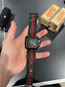 Coupe Black Stainless Steel With Striped Nylon Strap Mens Watch Used 131.2