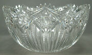 Abp American Brilliant J Hoare Hindoo Pattern 14 1/8 Inch Wide Cut Crystal Bowl