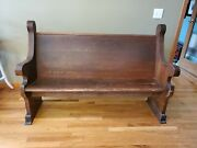 Antique Oak Church Pew – Solid And Sturdy – 5′ Long , Over 100 Years Old