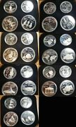 Canada 1976 28 Pcs Olympic Proof Silver Set W/cases And Holder, All Gem Proofs