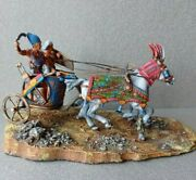 Tin Toy Soldier 54 Mm.elite Painting In St. Petersburg.the Egyptian Chariot