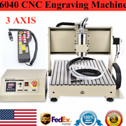 3axis 6040 Cnc Router Metal Engraver Machine Remote Controller F/ Pcb Wood 1.5kw