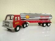 Vintage China Tin Plate Shell Oil Petroleum Petrol Tanker Lorry Truck Toy