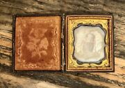 Tinted Post Mortem Daguerreotype 6th Plate