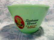 Jadeite Green Glass Sunbeam Bread Mixing Bowl In Excellent Condition