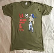 Vintage 1987 Walking Proud In The Usa Uncle Sam T-shirt Rare America Wwii Muscle
