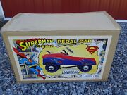 Vintage Gearbox Superman Pedal Car New In Box